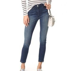3x1 W3 Channel Seam Crop Jeans Crush Wash